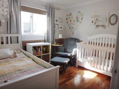 She's in a Big Girl Bed! [Shared Baby and Toddler Room Update & What I've learnt along the Way] – Our Everydays Baby And Toddler Shared Room, Shared Boys Rooms, Toddler Rooms, Home Design, Kids Room Design, Toddler Bunk Beds, Boy Room, Kids Bedroom, Bedroom Sets