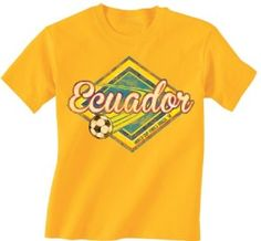 Ecuador Football World Cup Childrens Boys/Girls Retro Soccer T-Shirt available at http://www.world-cup-products-worldwide.com/ecuador-2014-football-world-cup-childrens-boysgirls-retro-soccer-t-shirt/