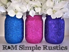 Glitter Mason Jar, housewares, home decor, mason jar soap dispenser on Wanelo