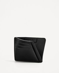 Image 1 of BLACK CARD HOLDER from Zara