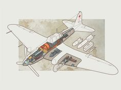 Dribbble - Il-2 Shturmovik by Alexander Minibaev