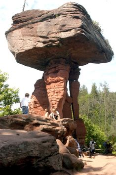 The Devil's Table is the most famous rock in the Pfälzer Wald, Germany's largest forest. Peter Jaeger / S