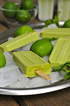 100-calorie vegan avocado popsicles.