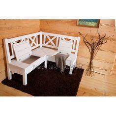 Rustikální rohová lavice SWEET HOME D25
