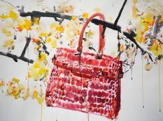VO   Valérie Oualid : Agent d'illustrateurs   Bruno Bressolin   Bag Bruno, Illustrations, Straw Bag, Picnic, Basket, Cosmetics, Luxury, Artist, Fashion
