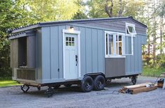 Tiny Mobile House on A Trailer - Tiny House for Sale in Portland, Maine - Tiny House Listings Tiny House Swoon, Modern Tiny House, Tiny House Plans, Tiny House Design, Tiny House On Wheels, Tiny Houses For Sale, Little Houses, Small Houses, Tiny House Listings