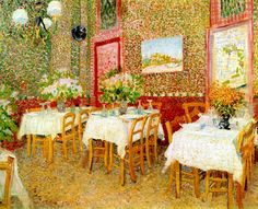 Interior of Restaurant Vincent van Gogh