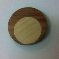 Image of  wooden Inlay Brooch