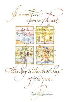 calligraphy art by Lorraine Ortner-Blake