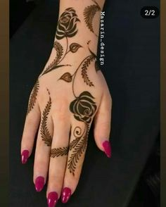 Pretty Henna Designs, Modern Henna Designs, Floral Henna Designs, Indian Henna Designs, Mehndi Designs Book, Back Hand Mehndi Designs, Finger Henna Designs, Mehndi Designs For Girls, Mehndi Designs For Beginners
