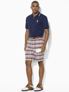 Men Style: Madras shorts and Espadrilles