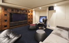 How about converting your basement into your own home cinema?