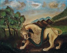 A PROMINENT 20TH CENTURY EUROPEAN COLLECTION December, 8th Henri ROUSSEAU (1844-1910) Lion dévorant un boa Huile sur toile Signée en bas à gauche 65,5 x 81 cm Estimation : € 350,000-500,000