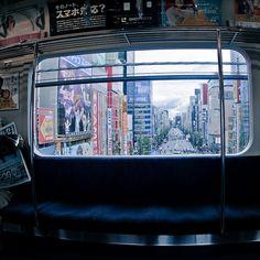 U-Bahn-Fensteransicht - - Gemalde Aesthetic Japan, City Aesthetic, Ken Tokyo Ghoul, Tokyo Japan, Japan Sakura, Photo Japon, Rei Ryugazaki, Rin Matsuoka, Japan Street