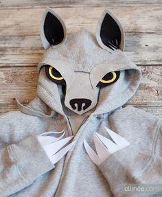 DIY Wolf Hoodie Costume