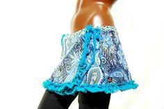 Blue wrap skirt jeans gypsy hippie elven by PinkyPurpleTree