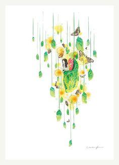 Juliet  A4 Print por ilovedoodle en Etsy, $30,00