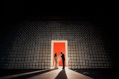 Such a stunning background! Photo by top Orange County wedding photographer Jason Q Tran | via junebugweddings.com