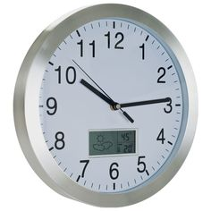 Tgt 72-Cw175 Tgt Weather Forecast Wall Clock - 12 Inch Aluminum
