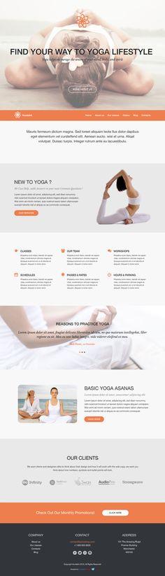 Kostenloses #WordPress Theme für #Yoga Studio