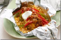 Foil-Pack Chicken Fajita Dinner