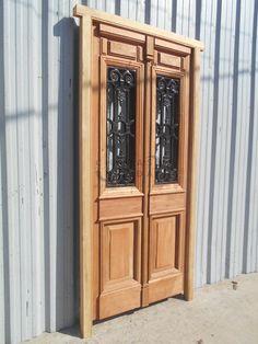 Puerta y media estilo antigua 130x205 puertas y ventanas for Puertas y ventanas usadas en rosario