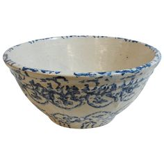 19thc  Design Sponge Ware Pottery Bowl