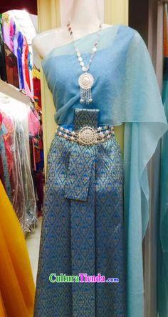Top nacional tradicional tailandés tradicional tailandés vestido vestido vestido vestidos vestido de novia juego completo para las mujeres niñas niños jóvenes adultos