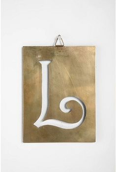"""Industrial Stencil Letters """"L"""" at URBAN OUTFITTERS $8.00"""