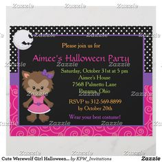 Cute Werewolf Girl Halloween Party