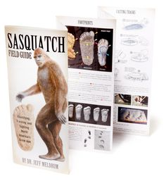 The Sasquatch Field Guide—all you need to know about Sasquatch or Bigfoot. (Like, how to take a plaster cast of a 'squatch track.) #REIGifts