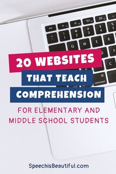 In this post, I've compiled a list of educational websites/ interactive resources that teach comprehension without books. These are perfect for elementary and middle school students. - Speech is Beautiful