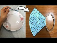 How to make face mask Easy Face Masks, Diy Face Mask, Diy Sewing Projects, Sewing Hacks, Crochet Mask, Homemade Mask, Sewing Lessons, Diy Mask, Mask Making