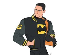 Bomber Jacket Batman by Chabe Escalante Male Character, Fantasy Character, Comic Character, Character Design Sketches, Character Design Cartoon, Character Drawing, Character Reference, Batgirl, Supergirl