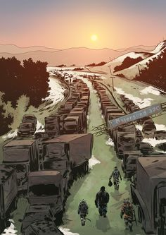 """Österleden"", Mutant Year Zero - RPG - Free League - art by Reine Rosenberg"