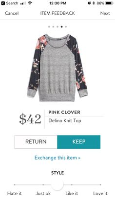 Pink Clover Delino Knit Top $42 Stitch Fix Fall 2017 #stitchfix #fallfashion #fashion