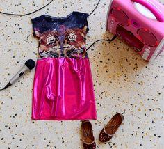 "Upcycled T-shirt dress ""bollywood"""