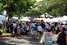 Saturday Farmers market at Kapiolani Community College in Hawaii - largers Farmer's market on Oahu