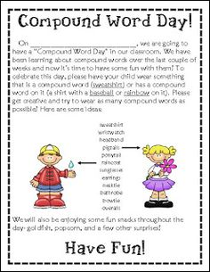 79 Best Compound Words Images Word Games Compound Words