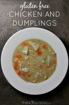 Chicken and dumplings made gluten free...enjoy this traditional comfort food again!