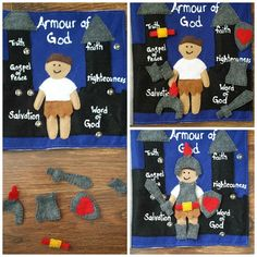 Armour of God: Quiet Book Bible Quiet Book, Felt Quiet Books, Busy Book, Preschool Art, Preschool Activities, God Themes, Silent Book, New Testament Books, Jonah And The Whale