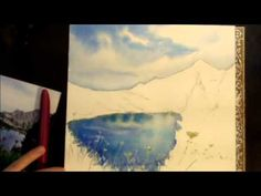 Monthly Drawing Tutorial Painting Simple Landscape Watercolor