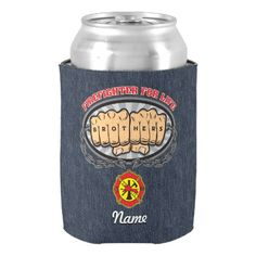 Firefighter for Life Can Cooler