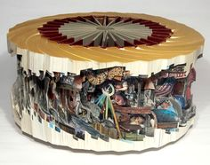 Increíble tallado de libros, por Brian Dettmer