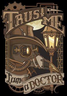 Steampunk Plague Doctor. Print. by Cthulhu-Great.deviantart.com on @deviantART