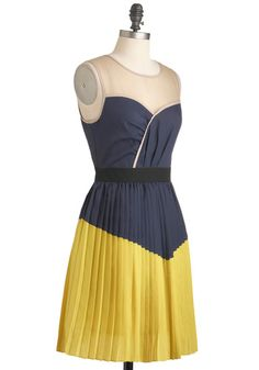 Turn the Pleat Around Dress, #ModCloth I'd totally wear this as a bridesmaid dress.