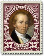 A U.S. postage stamp honors Captain William Clark.