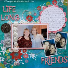 Layout with Easy Scrapbook Embellishments http://scrapbookwonderland.com