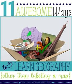 11 Awesome Ways to Learn Geography (Other Than Labeling a Map).Slapping down a map to label states and countries has never been an engaging way to teach my kids homeschool geography. Drill and kill of boring facts to remember only worked for a short time too.So today, I am sharing 11 awesome ways to learn geography that don't include labeling a map because geography is so much more than writing out the names of states and countries. I hope some of these help you to get out of your geography…