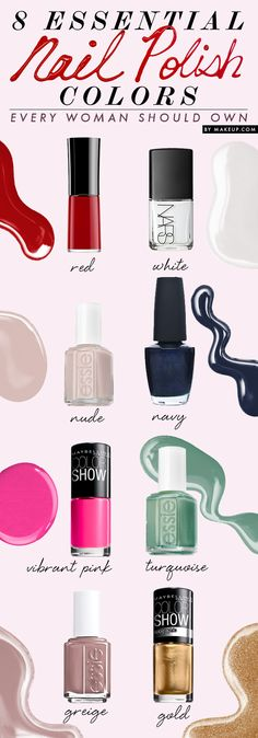 Has your manicure and pedicure color gotten a little repetitive? Break out of the routine! We have 8 nail polish colors that will work on anyone at anytime.
